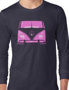 VW Kombi Pink design Long Sleeve T-Shirt