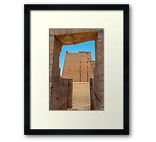 Temple of Horus. Framed Print