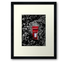 Cornish postbox Framed Print