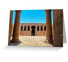 Temple of Horus4. Greeting Card