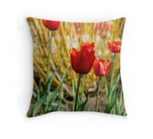 Flowers at the Getty Museum. Throw Pillow