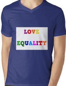 Love Equality Mens V-Neck T-Shirt