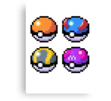 Pokeball Pixel Art  Canvas Print