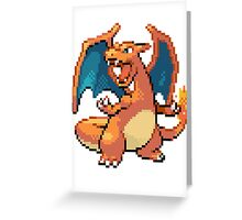 Pixel Charizard Greeting Card