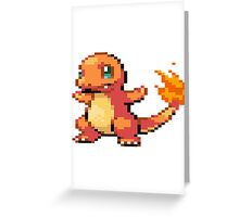 Pixel Charmander Greeting Card