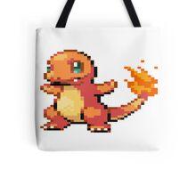Pixel Charmander Tote Bag