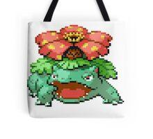 Pixel Venusaur Tote Bag