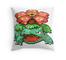 Pixel Venusaur Throw Pillow