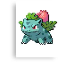 Pixel Ivysaur Canvas Print