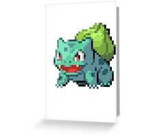 Pixel Bulbasaur Greeting Card