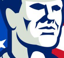 American Worker Stars and Stripes Flag Retro Sticker