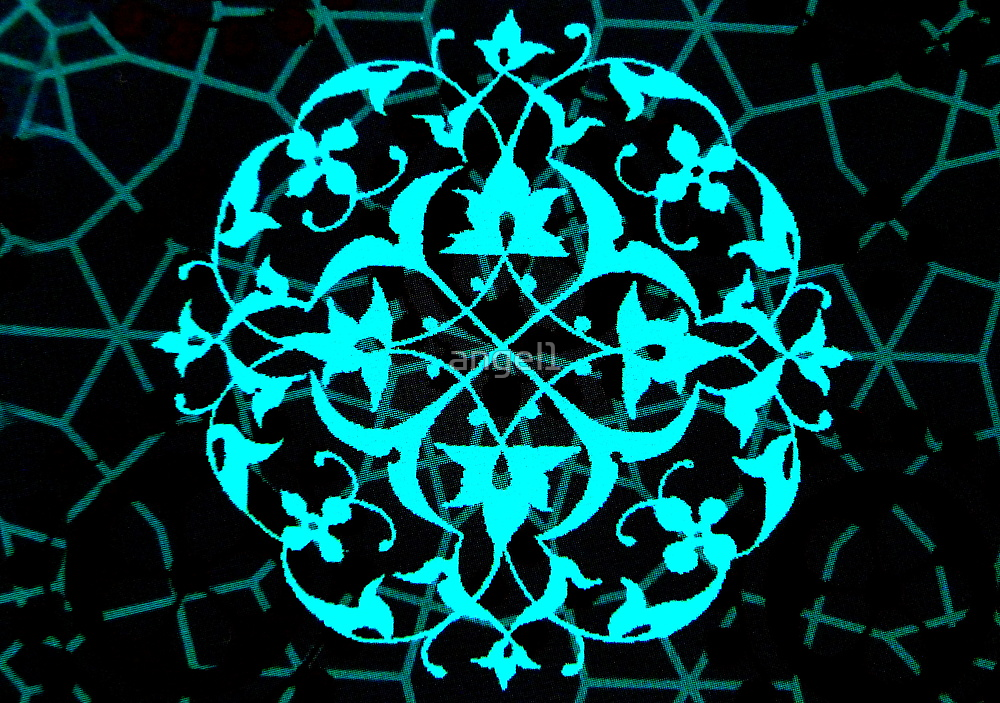 Abstract in Aqua by ©The Creative  Minds