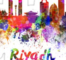 Riyadh skyline in watercolor Sticker