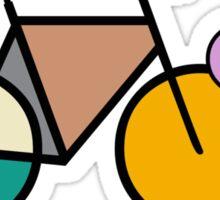 Geometric Mondrian Bicycles T-Shirt Sticker