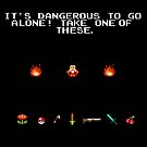 its dangerous to go alone poster by jmakin