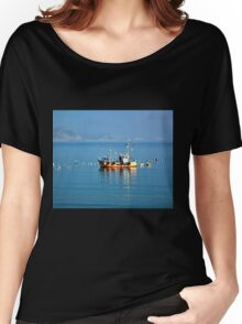 Slippery Dick Fishing Boat At Lyme Women's Relaxed Fit T-Shirt