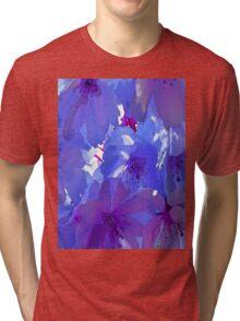 Blue Cherry Blossoms Tri-blend T-Shirt