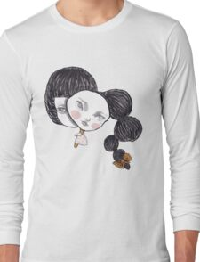Two faced lady Long Sleeve T-Shirt