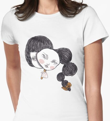 Two faced lady Womens Fitted T-Shirt