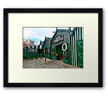 Phipps Antigua Boat Sheds and Cafe, Christchurch NZ Framed Print