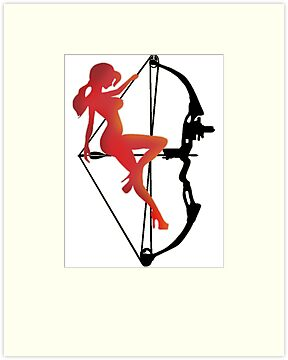 ARCHERY-SEXY COMPOUND GIRL ON ARROW by JAYSA2UK