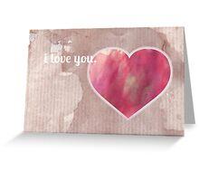 <3 Greeting Card