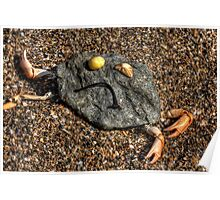sad rock crab Poster
