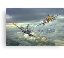 The Old Flying Machine Company - MH434 And Ferocious Frankie Canvas Print