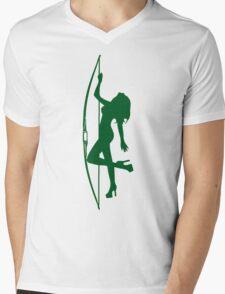 ARCHERY-SEXY LONGBOW Mens V-Neck T-Shirt