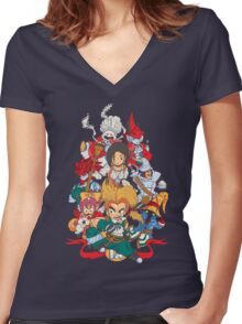 Fantasy Quest IX Women's Fitted V-Neck T-Shirt