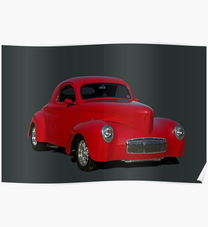 1940 Willys Hot Rod Poster