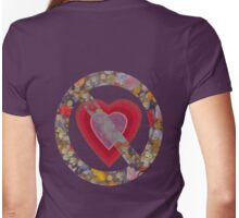 Grunge Bruised heart T-Shirt Womens Fitted T-Shirt