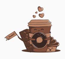Caffeinated Love Kids Tee