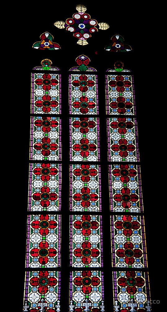 Panels of Stained Glass by phil decocco