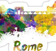 Rome skyline in watercolor Sticker