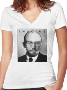 John Lenin Women's Fitted V-Neck T-Shirt