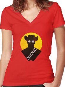 Django Women's Fitted V-Neck T-Shirt