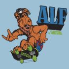 ALF skateboarding  by BUB THE ZOMBIE