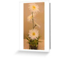 Four Daisies Greeting Card