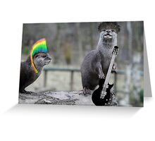 Punk Otters Greeting Card