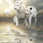 White Lions - A New Beginning by Carol  Cavalaris