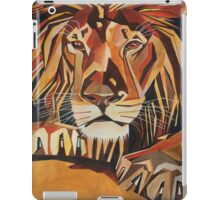 Relaxed Lion Portrait in Cubist Style iPad Case/Skin