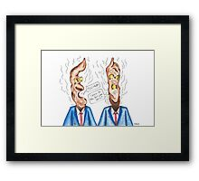 Poo Head Framed Print