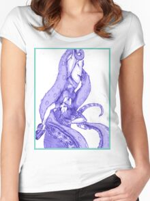 Tentacle slayer Women's Fitted Scoop T-Shirt