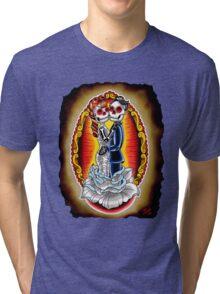 Wedding De Los Muertos Tri-blend T-Shirt