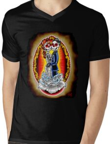 Wedding De Los Muertos Mens V-Neck T-Shirt
