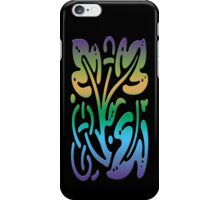 Smartphone Case - Abstract Botanical - Purple Green Gold iPhone Case/Skin