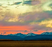 Mummy Range Sunset by Gregory J Summers