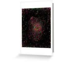 Abstract galaxy spectrum Greeting Card