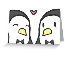 Penguin Card Greeting Card